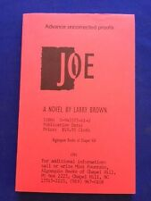 JOE - UNCORRECTED PROOF BY LARRY BROWN