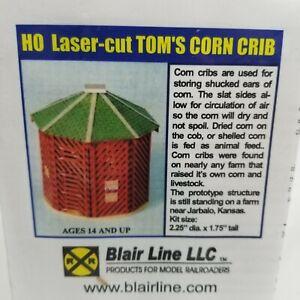 BLAIR LINE HO SCALE TOM'S CORN CRIB KIT model railroad laser cut wood train new