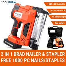 TOOLSTORM Brad Nail/Staple Gun 2-in-1 20V Lithium 18ga Framing Nailer Nail Gun