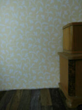 niedliche TAPETE mit maisgelben Röschen in Rankenraute,Puppenstube,Bogen 30cmx52