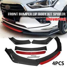 Carbon Fiber Universal Front Bumper Lip Spoiler Splitter Protector Red Layer Fits Toyota Yaris