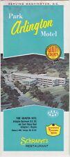 1950's The Park Arlington Motel Promotional Brochure