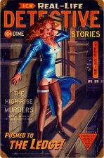 Detective Stories Pin Up Metal Sign ( Greg Hildebrandt )