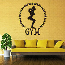 Women's Weightlifting GYM Wall Fashion Creative Hand Carved Wall Stickers