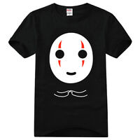 Anime Spirited Away No Face Man Cotton T-Shirt Tee Shirts Tops Couples Blouse