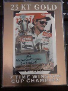 1995 Bleachers Classic 23 KT Karat Gold Dale Earnhardt Set of 3 #d 009903/10,000