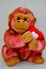 Dan Dee Rare Plush Gorilla Monkey Stuffed Animal Toy with Heat Pink fuzzy Hair