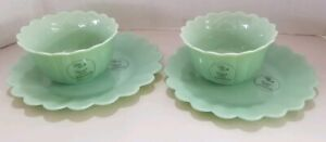 """The Pioneer Woman Timeless Beauty Jadeite 2 Bowls & 2 Plates (8.5"""") New w labels"""