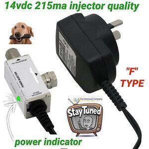 tv antenna booster power supply 14v aerial industries 215 ma F metal case DC 3va