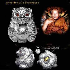 Thai Amulet Look Om Tiger LP Pern Wat Bangphra Power Strong Magic Talisman #2