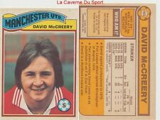 163 DAVID McCREERY # ENGLAND MANCHESTER UNITED CARD PREMIER LEAGUE TOPPS 1978