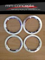 4 Aluminium Zentrierringe 66,6 -  auf 57,1 Alu Ringe für Felge Mercedes Audi VW