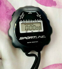 Sportline Water Resistant Timer 2004 Model 220 - Tested - With Battery Included