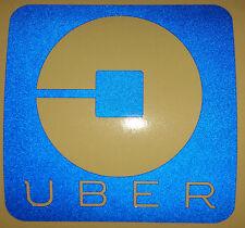 **REFLECTIVE** 4x4 UBER vinyl STICKER sign Rideshare/taxi driver car window lyft