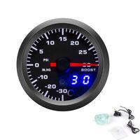 52mm LED Car Turbo Boost Meter Psi Pressure Gauge 0-30PSI 0-30 IN.HG Universal