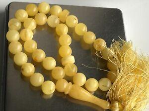 Baltic Amber Rosary 23.69  Gr Islamic Prayer Beads 100% NATURAL