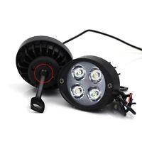 1 PAIR Universal Motorcycle Motorbike 4 LED Front Spot Light Headlight Head Lamp