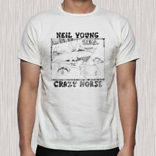 New Neil Young Crazy Horse Zuma Men's White T-Shirt Size S to 3XL