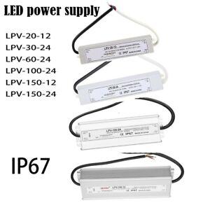 LED Driver Power Supply Transformer Waterproof IP67 5 12 24 36 48V For LED Strip