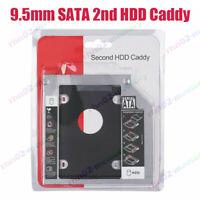9.5mm SATA 2nd II HDD SSD Hard Drive Caddy for Universal Laptop CD DVD-ROM ODD Q