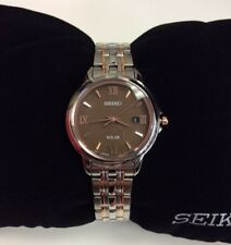 SEIKO CORE Series Women's Two-Tone Rose Gold Solar Powered WATCH SUT349