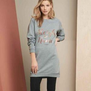 Lipsy London Ladies Womens Christmas Xmas Slogan Jumper Dress Size 6 8 18 20