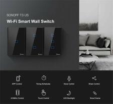Sonoff T3 1/2/3 Gang inalámbrica Wifi Panel Táctil Interruptor de pared casa inteligente control de APP