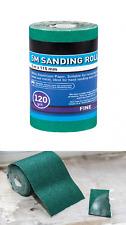 5 Metre Roll 120 Grit Coarse Sand Paper Abrasive Anti Clog Green Aluminium Oxide