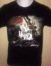COLDPLAY VIVA LA VIDA TOUR 2008 SMALL T-SHIRT ROCK CHRIS MARTIN OUT OF PRINT