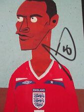 Manchester united Rio Ferdinand QPR Signed Football Photo  /bi