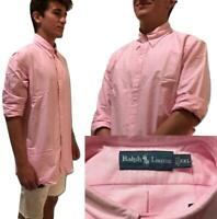 Ralph Lauren Polo Oxford Classic-Fit Solid Long Sleeve Button-Down Shirt Pink