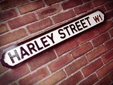 Harley Street Old Fashioned London Vintage Street Sign Westminster Road Sign