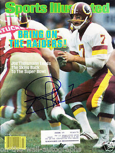REDSKINS JOE THEISMANN HAND SIGNED AUTOGRAPHED SPORTS ILLUSTRATED! W/ PROOF +COA