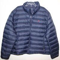 Polo Ralph Lauren Big Tall Mens 3XB Navy Blue Packable Down Jacket NWT Size 3XB