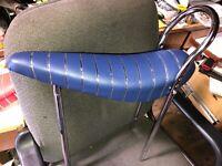 """Banana Seat Blue + 24"""" sissy bar Chrome fits Schwinn Columbia  ALL METAL bicycle"""