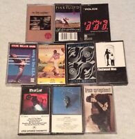 Lot of 10 Classic Rock Cassette Tapes *Eagles, Stones, Bruce, Petty, The Police*
