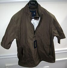 POLO GOLF RALPH LAUREN COBRA MEN'S OLIVE NYLON ZIP-UP PULLOVER SIZE M NWT $125