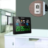 Digital Wireless Weather Station Monitors Indoor Outdoor Temperature Humidity EU