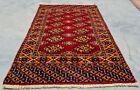 Hand knotted Vintage Pakistan Bokhara Jhaldar Wool Area Rug 3 x 2 Ft (11823 KBN)