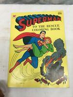 Vintage 1974 Superman Coloring Book , Clean 28 Unused Pages ,DC COMICS INC