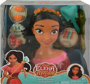 Just Play Avalor Elena Styling Head Doll Disney Princess Hairdressing Girls Toy