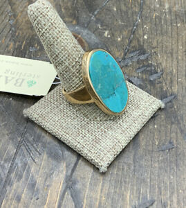 Barse Surf Ring- Turquoise & Bronze- 10.75-NWT