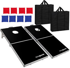 Cornhole Pro Regulation Size Bean Bag Toss Game Set (Black)
