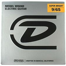 3 Pack Dunlop Super Bright Light Nickel 8 String Electric Guitar Strings (09-65)