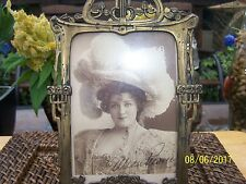 1890s Lillian Russell - Classic Theater Actress -  signed  pictue & frame