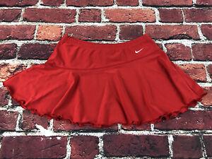 Nike team Womens Medium red Skirt elastic waist lightweight stretch spandex
