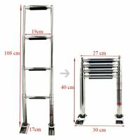 Quality Stainless Steel 3 Step Marine Folding Boarding Ladder Boat Yacht LS18