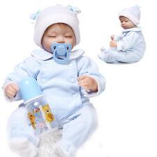 """17"""" Vinyl Silicone Lifelike Real Baby Doll Boy Realistic Reborn Newborn Sleeping"""