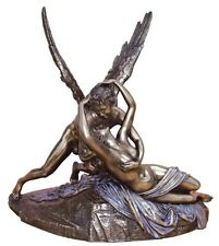 "12"" Cupid and Psyche Statue Greek God Rome Statue Collectible Sculpture Eros"
