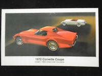 1972 Corvette Coupe Postcard Auto Dealer Advertising Automobile L@@K